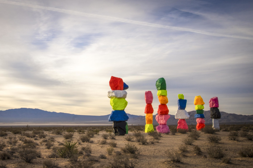 Seven Magic Mountains à Las Vegas